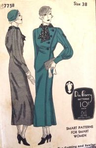 1930s Coat Vintage Sewing Pattern