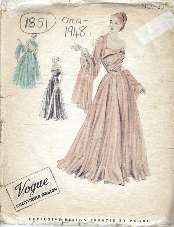 1948 Vintage VOGUE Sewing Pattern B34\
