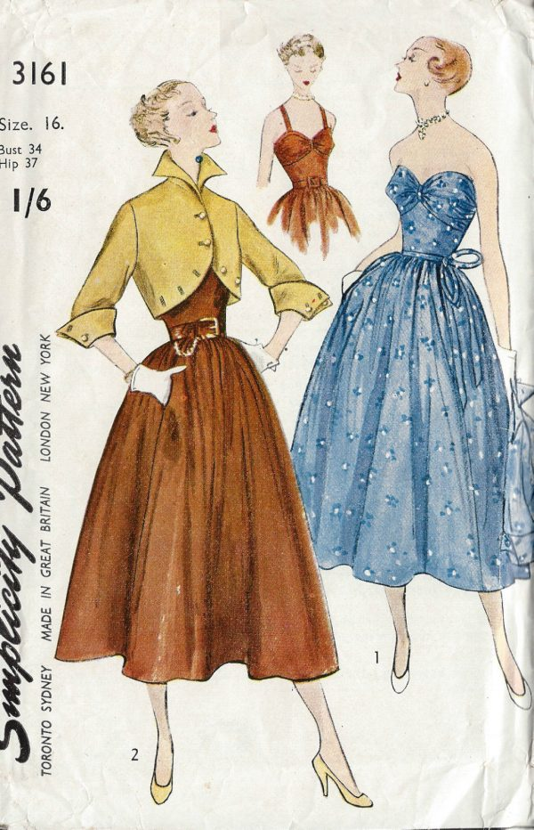 1950 Vintage Sewing Pattern B34 Quot Dress Amp Jacket R656 By