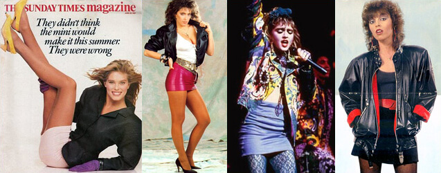 80s Fashion Trends Mini Skirts Strip