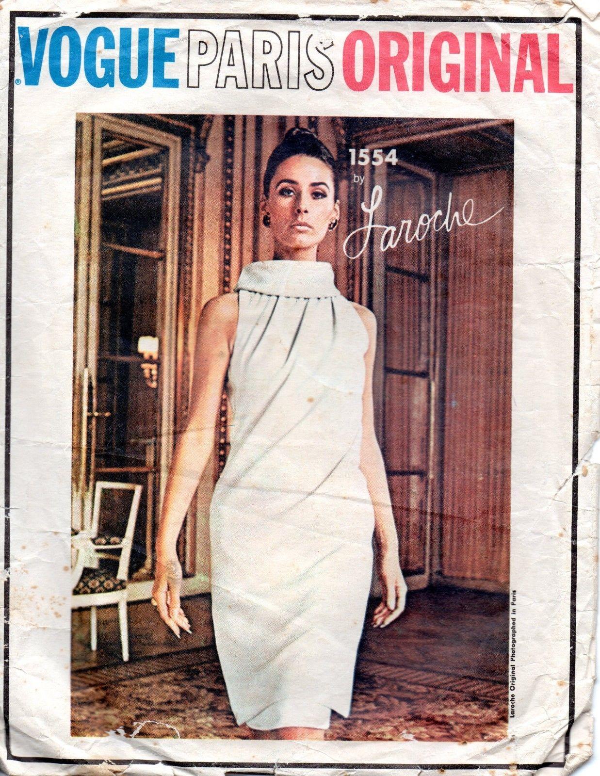 By Laroche Vogue 1554 1874 1965 Vintage VOGUE Sewing Pattern B34 DRESS