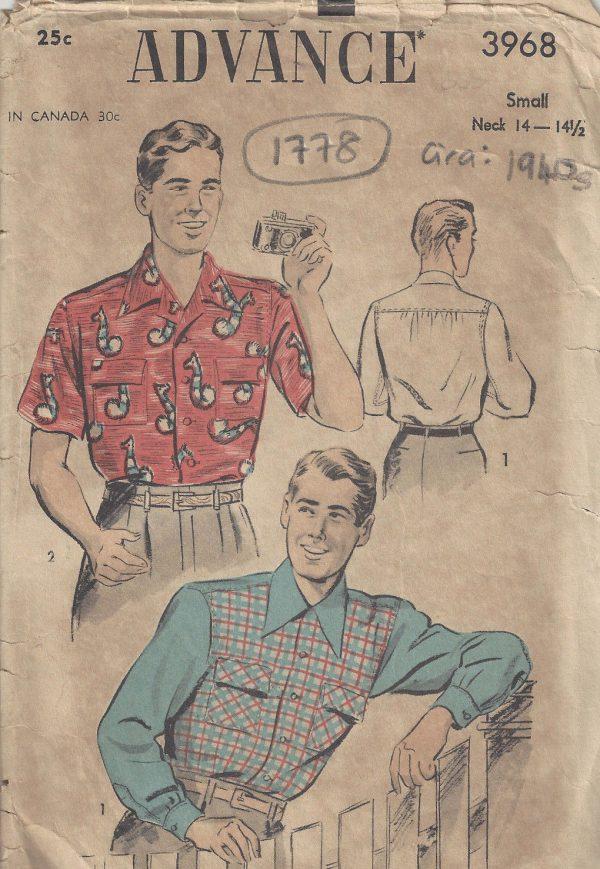 1940s Vintage Sewing Pattern Size:14-14 1/2