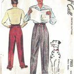 1940s-WW2-Vintage-Sewing-Pattern-W38-MENS-PANTS-TROUSERS-1311-261548622510