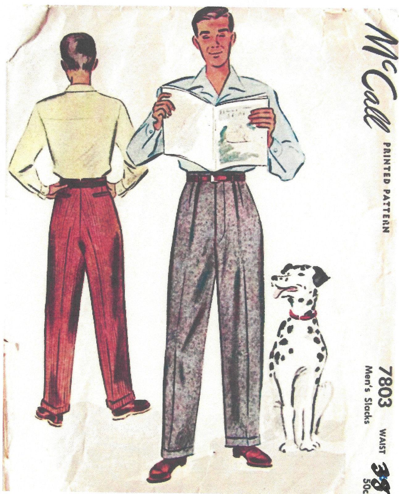 1940s ww2 vintage sewing pattern w38 mens pants trousers 1311 1940s ww2 vintage sewing pattern w38 mens pants trousers 1311 the vintage pattern shop jeuxipadfo Images