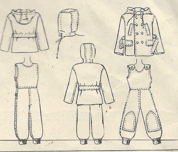 1947 Childrens Vintage Sewing Pattern S3 C22\