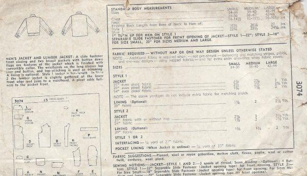 1949 Vintage Sewing Pattern C38\