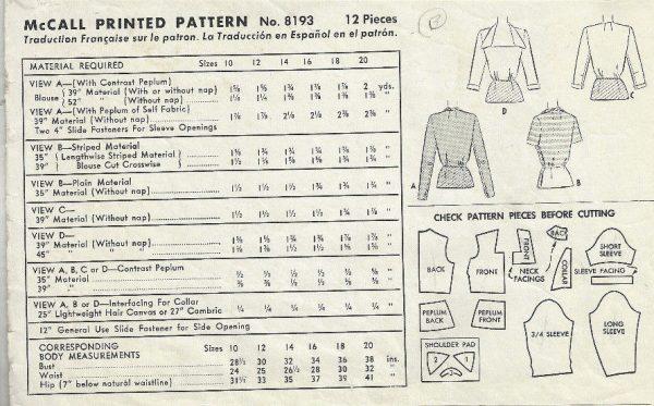 1950-Vintage-Sewing-Pattern-B32-BLOUSE-1803-262919131740-2
