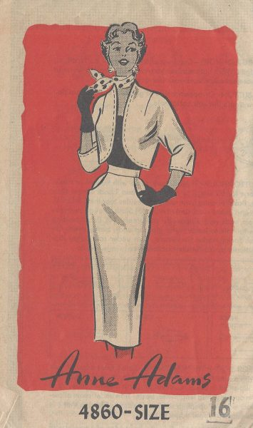 1950s Vintage Sewing Pattern B34 PENCIL SKIRT & BOLERO JACKET (R869 ...