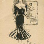 1950s-Vintage-Sewing-Pattern-B36-12-WIGGLE-DRESS-R756-By-Jo-Copeland-251182457920