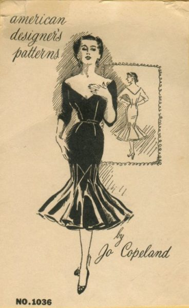 1950s Vintage Sewing Pattern B36 1/2 WIGGLE DRESS (R756) By Jo ...