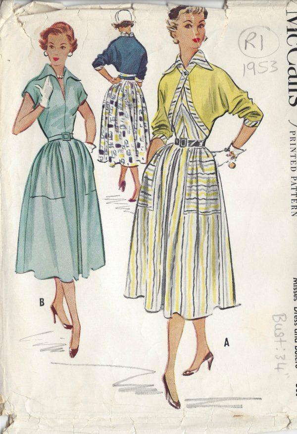 1953 Vintage Sewing Pattern B34\