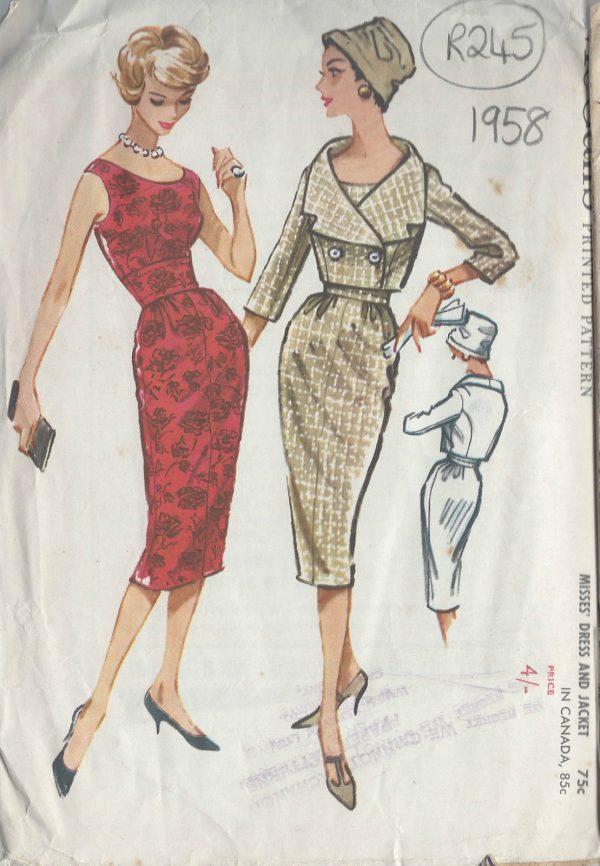 1958 Vintage Sewing Pattern B36\
