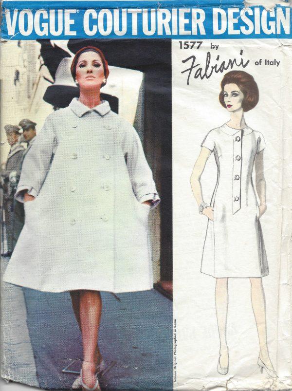 1965 Vintage VOGUE Sewing Pattern B34 DRESS & COAT (1318) By Fabiani ...