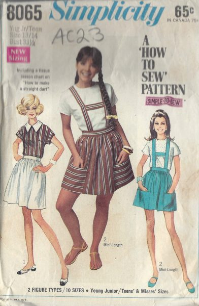 1968 TEENS Sewing Pattern 13-14 B:33 1/2 SKIRT & BLOUSE (AC23) - The ...