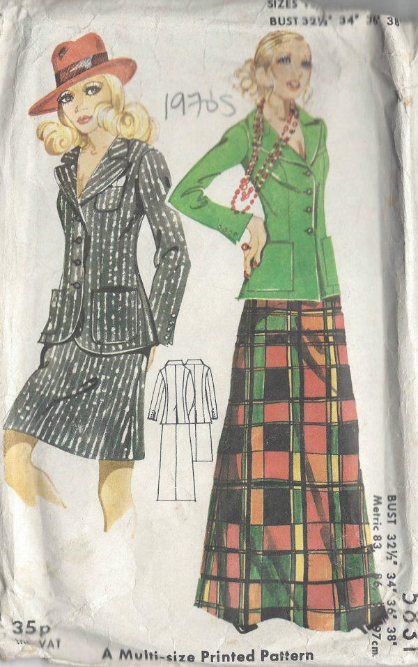 1970s-Vintage-Sewing-Pattern-B32-12-34-36-JACKET-SKIRT-R742-251181655200