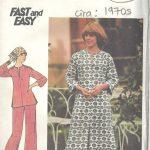 1970s-Vintage-Sewing-Pattern-B36-CAFTAN-TOP-PANTS-R1600-252335431740