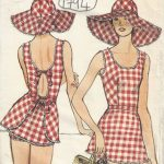 1975-Vintage-VOGUE-Sewing-Pattern-B36-SWIMSUIT-with-BRIEFS-and-HAT-1794R-252826672970