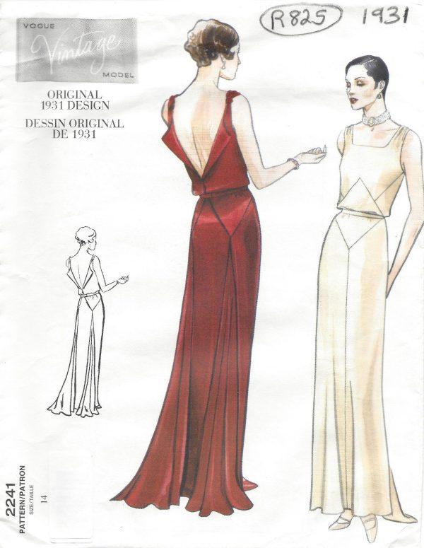 1931-Vintage-VOGUE-Sewing-Pattern-B36-DRESS-R825R-262847891661-5