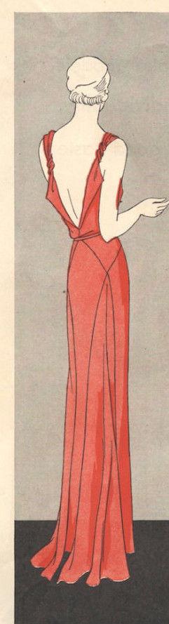 1931-Vintage-VOGUE-Sewing-Pattern-B36-DRESS-R825R-262847891661