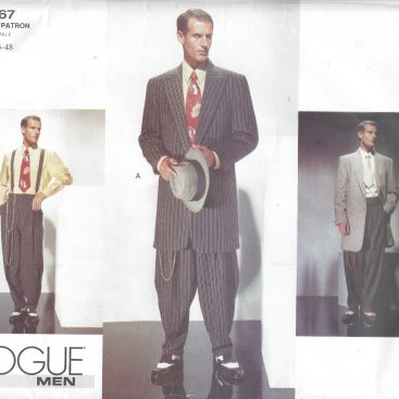 40s Vintage VOGUE Sewing Pattern Chest 404040 MEN'S ZOOT SUIT Unique Mens Suit Sewing Patterns