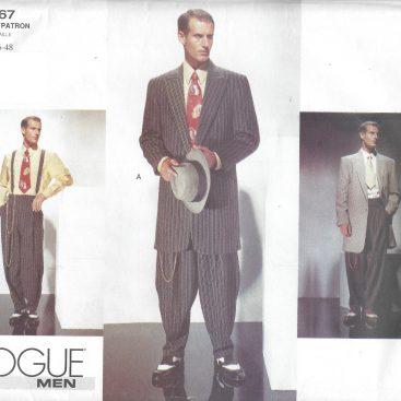 40s Vintage VOGUE Sewing Pattern Chest 404040 MEN'S ZOOT SUIT Unique Mens Suit Sewing Patterns
