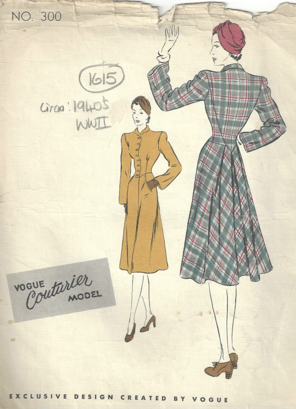 1940s-WW2-Vintage-VOGUE-Sewing-Pattern-B34-COAT-1615-262386413111