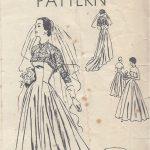 1950-Vintage-VOGUE-Sewing-Pattern-B36-BRIDAL-EVENING-DRESS-BOLERO-R767-262319635401