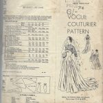 1950-Vintage-VOGUE-Sewing-Pattern-B36-BRIDAL-EVENING-DRESS-BOLERO-R767-262319635401-3