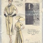 1950-Vintage-VOGUE-Sewing-Pattern-B36-DRESS-SCARF-1489-By-Jacques-Fath-262031443951