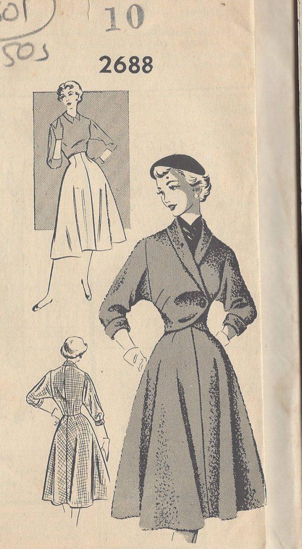 1950s-Vintage-Sewing-Pattern-B28-SKIRT-BOLERO-JACKET-R301-251162286251