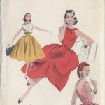 1950s-Vintage-Sewing-Pattern-B30-DRESS-BOLERO-R844-251221771261