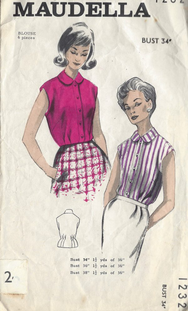 d8d104cb2d11ca 1960s Vintage Sewing Pattern B34 BLOUSE (1193) - The Vintage Pattern ...