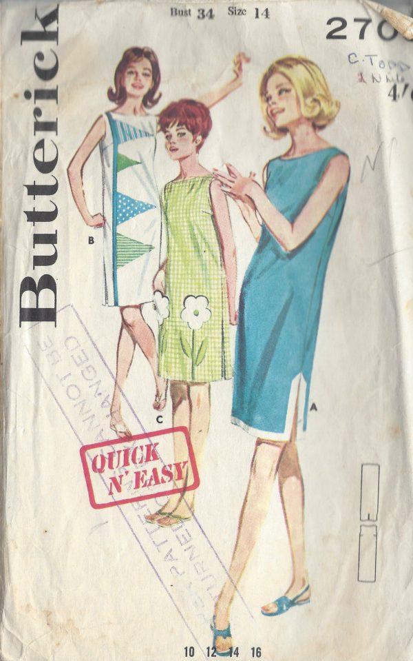 1960s-Vintage-Sewing-Pattern-B34-DRESS-R981-251275889461