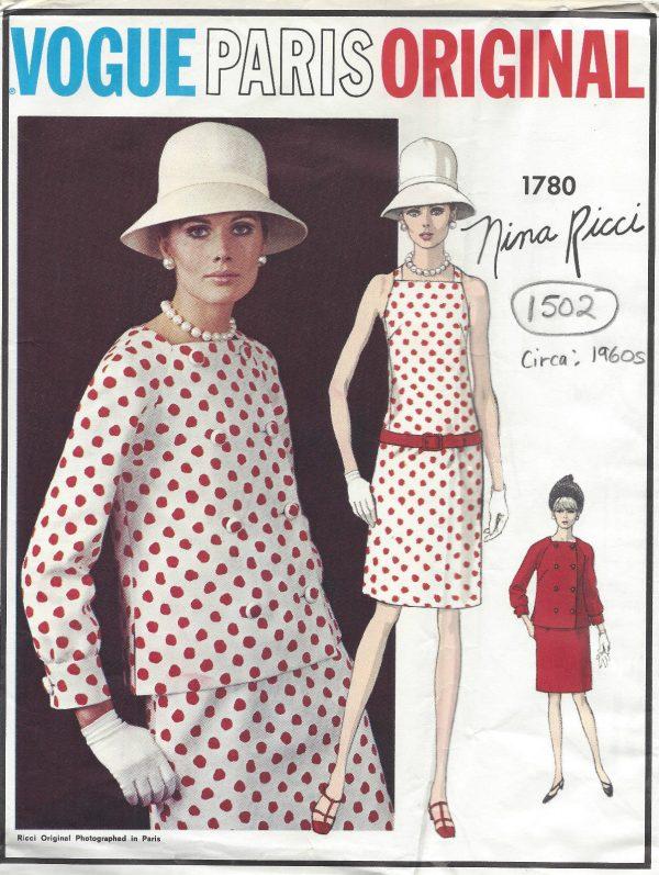 1960s Vintage VOGUE Sewing Pattern B34 JACKET & DRESS (1502RR) By ...