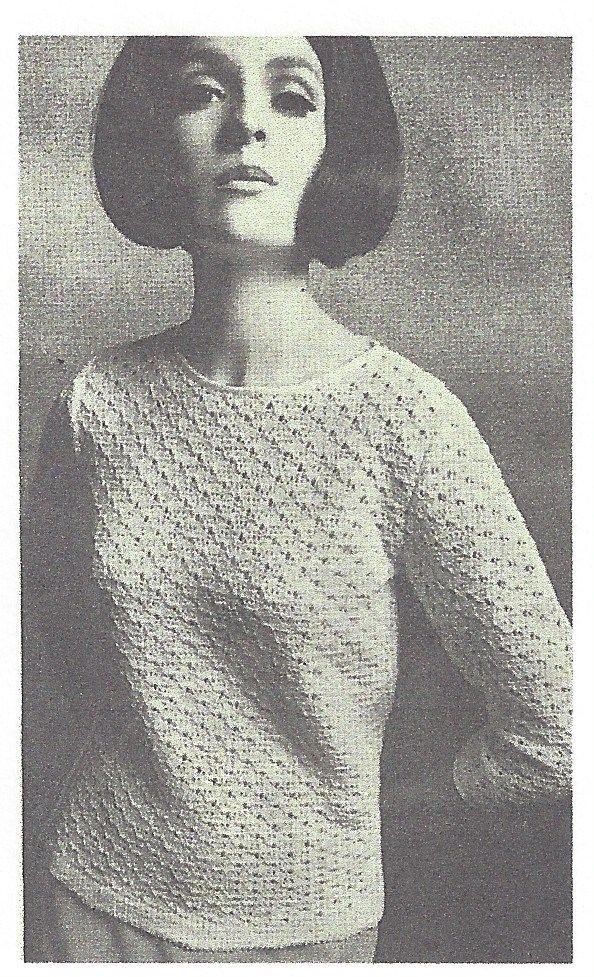 1964 Vintage Knitting Pattern V55 By Vogue The Vintage Pattern Shop