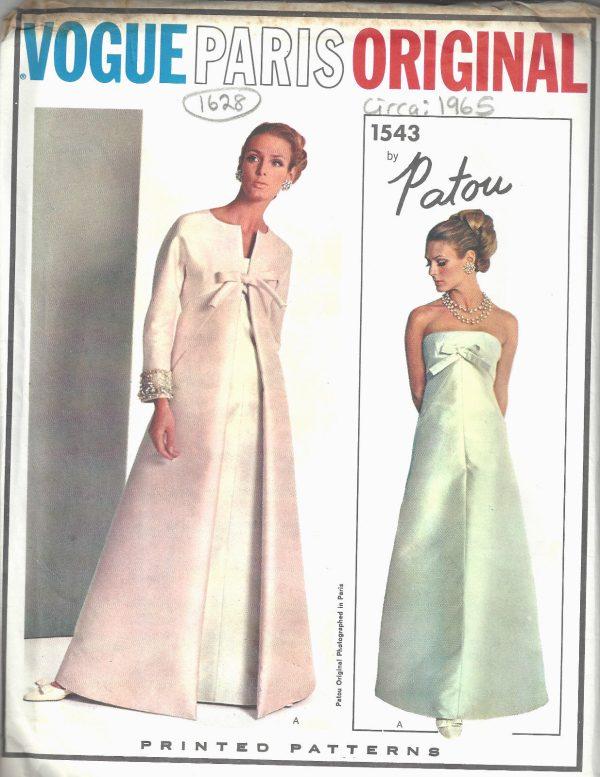 1965 Vintage VOGUE Sewing Pattern B34 COAT & EVENING DRESS (1628R ...