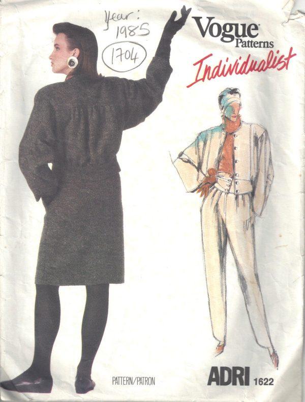 1985-Vintage-VOGUE-Sewing-Pattern-B36-SKIRT-PANTS-JACKET-1704-By-Adri-252484242381