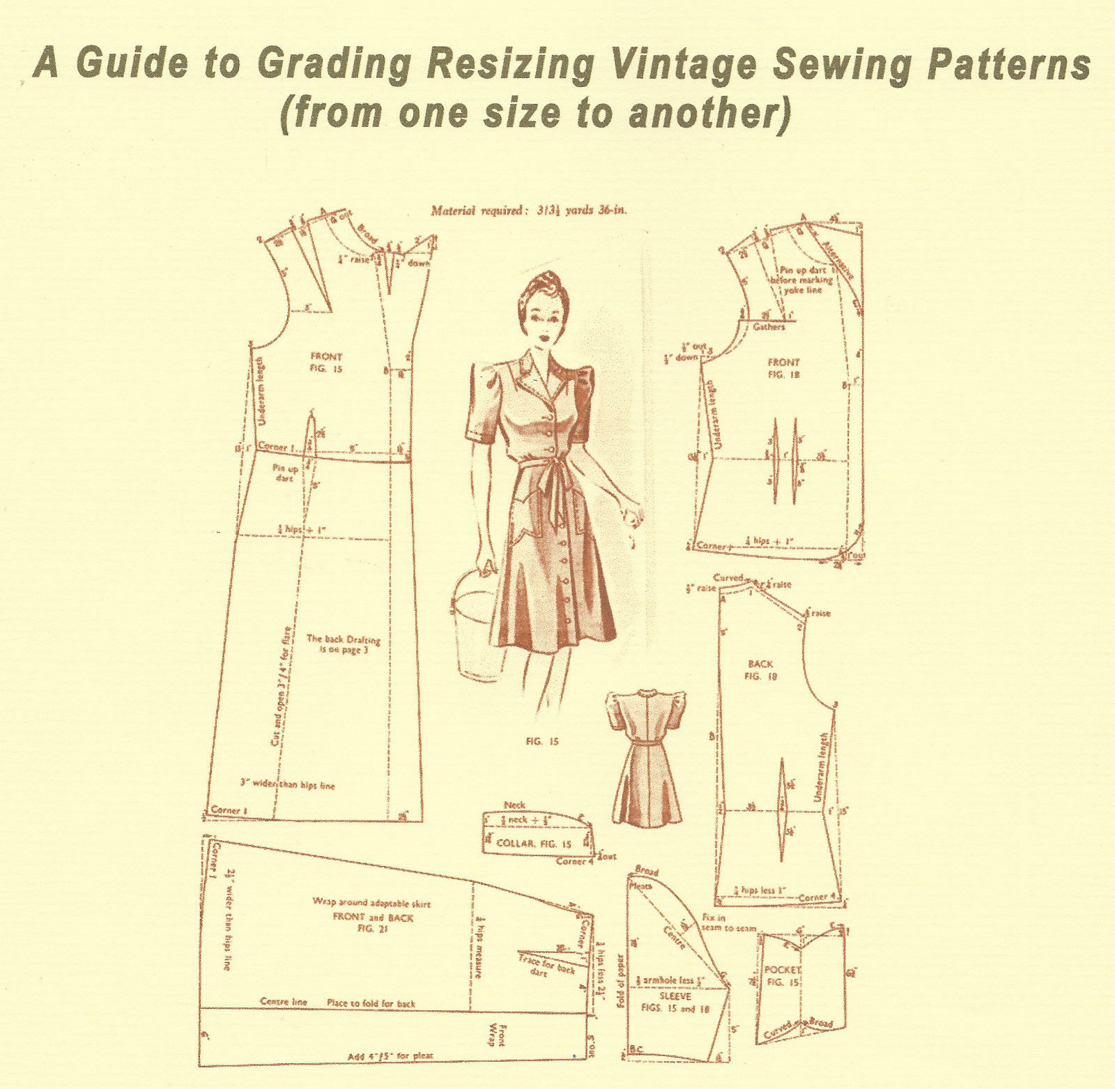 BOOKLET - A Guide to Adjusting and Altering Vintage Sewing Patterns ...