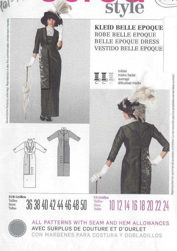 1900s-Edwardian-Vintage-Sewing-Pattern-DRESS-B36-38-40-42-44-46-48-50-1143-261447487422-3