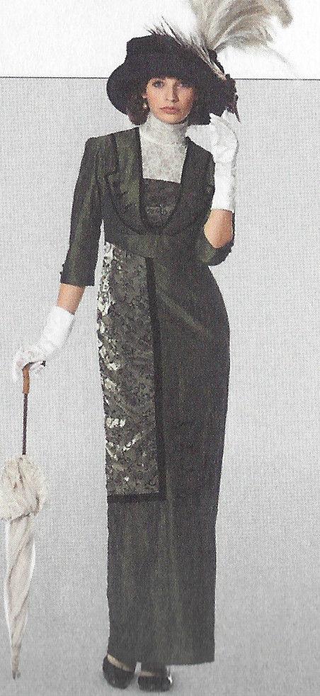 1900s-Edwardian-Vintage-Sewing-Pattern-DRESS-B36-38-40-42-44-46-48-50-1143-261447487422