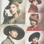 1930s-1940s-Vintage-Sewing-Pattern-HATS-ONE-SIZE-1098-261278073422