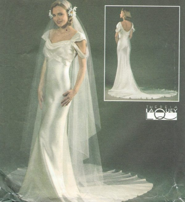 1930s-Vintage-Sewing-Pattern-DRESS-VEIL-B-36-38-40-42-ins-1460-261968411182