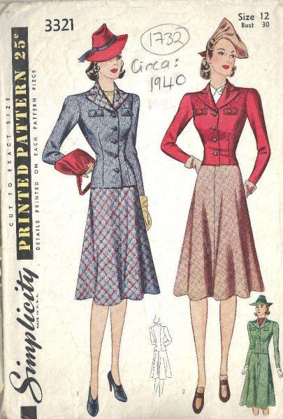 40s vintage style jacket women