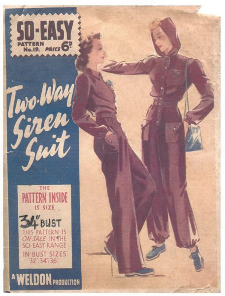 1940 WW2 Vintage Sewing Pattern B34 TWO-WAY SIREN SUIT (1395) - The ...