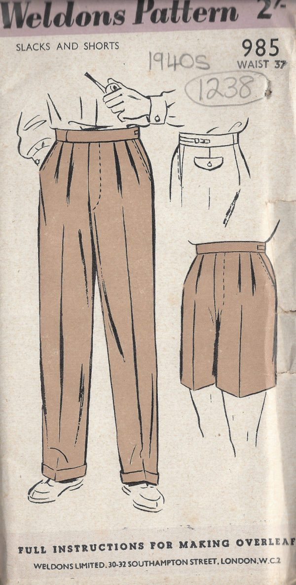 fefbe4bf 1940s WW2 Vintage Sewing Pattern W37