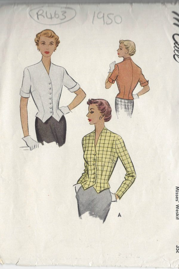 1950-Vintage-Sewing-Pattern-WESKIT-B34-R463-251151595622