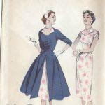 1950s-Vintage-Sewing-Pattern-B34-REDINGOTE-DRESS-R7-251144912072