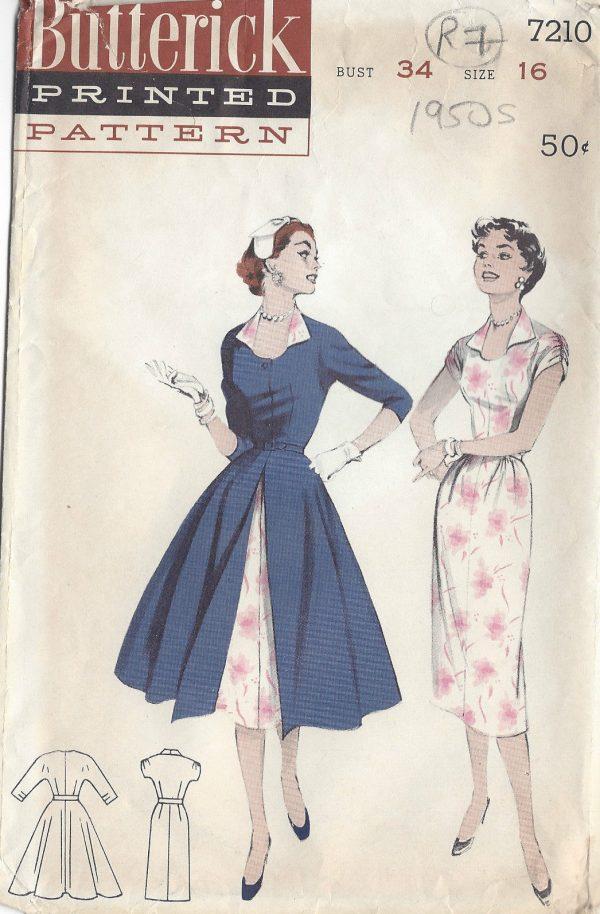 1950s Vintage Sewing Pattern B34\