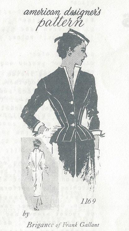 1950s Vintage Sewing Pattern B36 1/2\