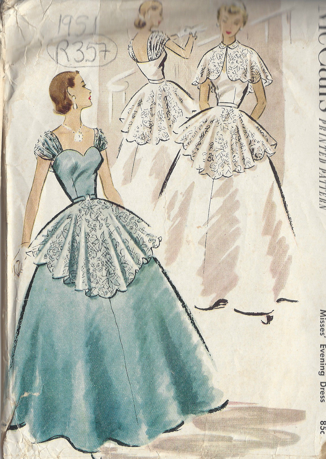 1951 Vintage Sewing Pattern B34\